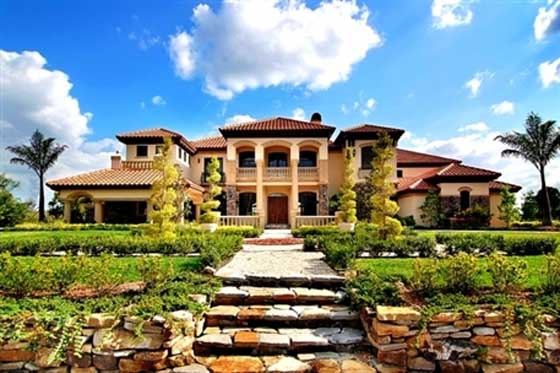 tuscan style luxury home